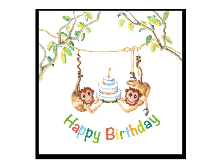 Monkey's birthday cake